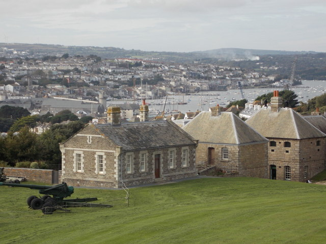 Falmouth: towards the town from Pendennis Castle