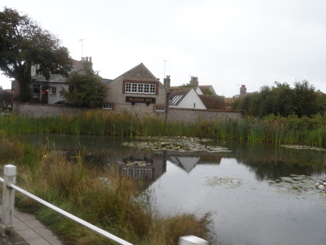 Pond and the Plough pub, Rottingdean
