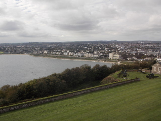Falmouth: Castle Beach from the castle keep