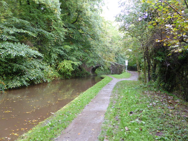 Part of the Mon. & Brec. canal west of The Dardy near Llangattock