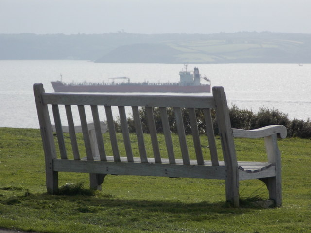 Falmouth: a bench with a view