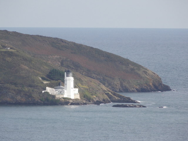 St. Anthony Head: the lighthouse from Pendennis Castle