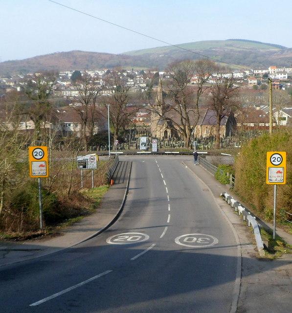 View down Ynysygwas Hill, Cwmavon
