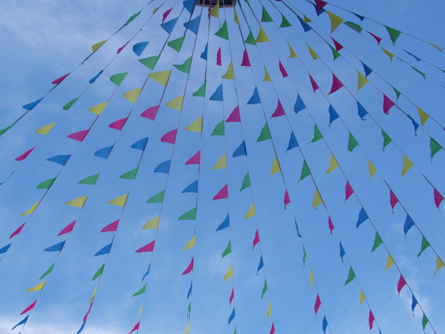Falmouth: bunting over Arwenack Street
