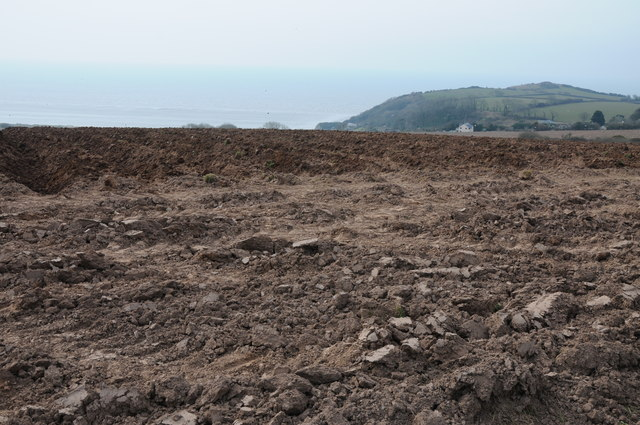 Ploughed field above Pendine