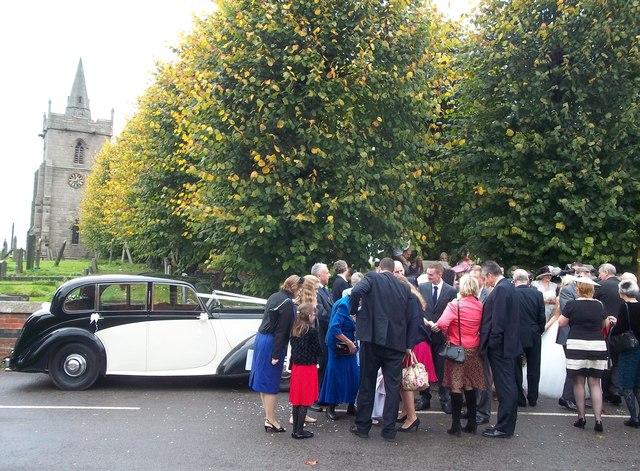 Wedding Party at Church Broughton