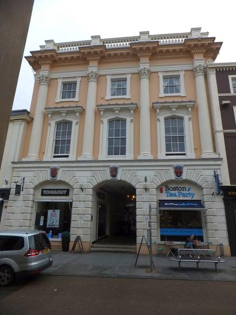 Ornate facade, Queen Street, Exeter