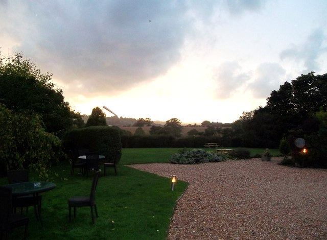 Sunset at Shottle Hall