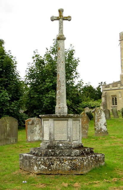 The war memorial in St Mary's churchyard