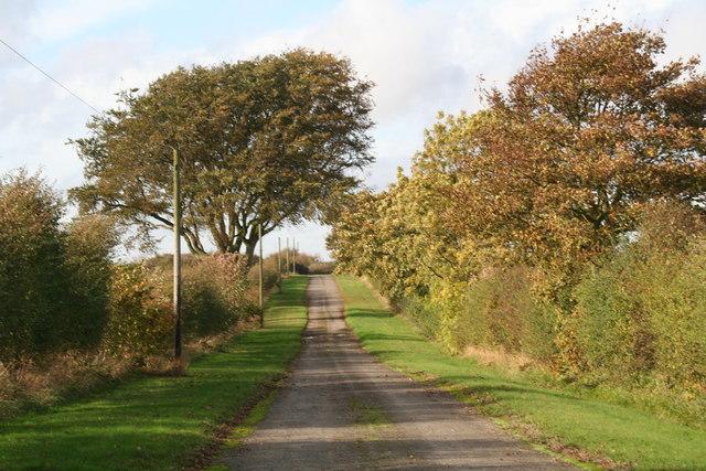 Byway across former R.A.F. Binbrook