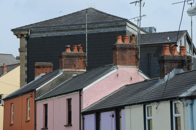 Rooftops in Narberth