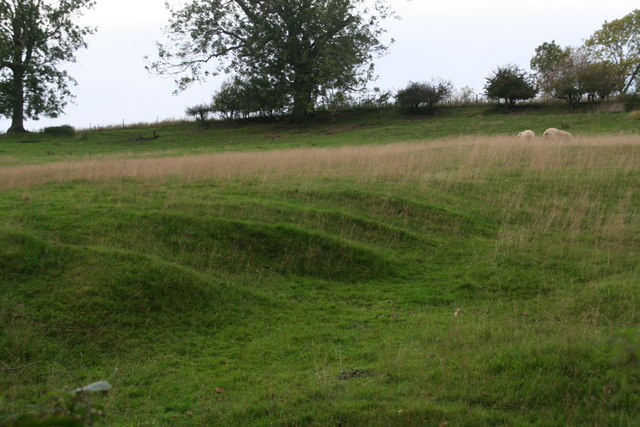 Earthworks next to the road to Croxby