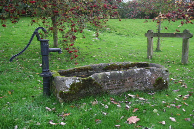 Old pump and water trough