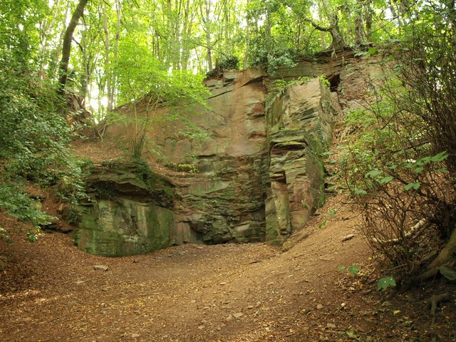 Rocks near Frenchay Bridge