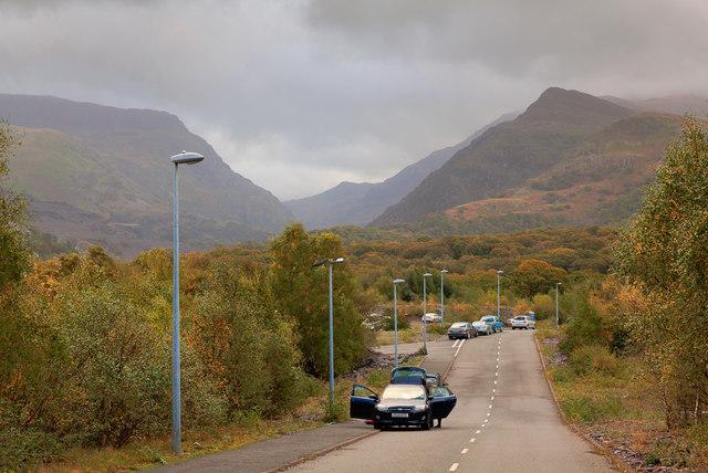 Road in Glyn Rhonwy