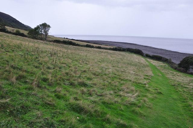 West Somerset : Grassy Path & Coastline