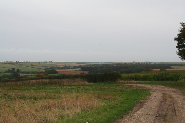 View across Stainton le Vale from the bridleway from Thoresway