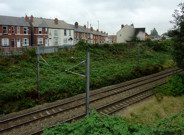 Railway in a cutting, Willenhall, Walsall