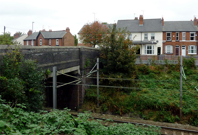 Railway and bridge in Willenhall, Walsall