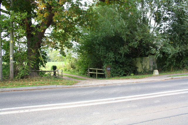 Entrance drive to Rhymes House from Townsend Road