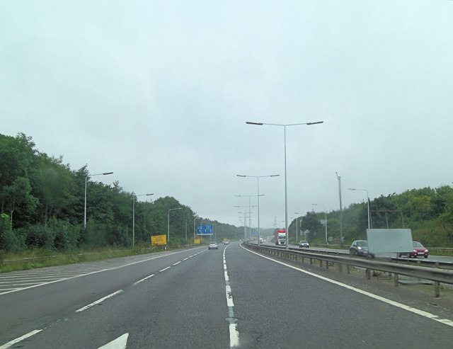 M54 north of Hilton Cross Business Park