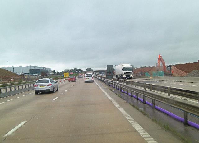 M54 approaches Middle Lane overbridge