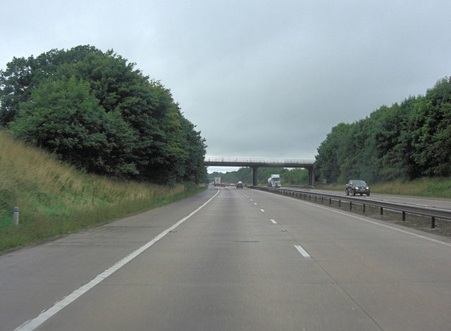 M54 approaches Port Lane overbridge
