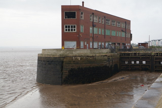 Former dock buildings on St Andrews Dock, Hull