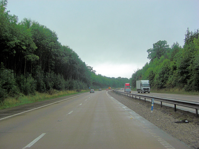 M54 north of Pendrell Hall