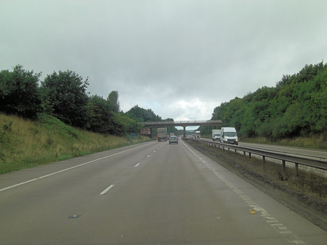 M54 approaches Shackerly Lane overbridge