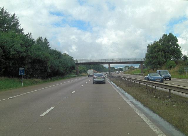M54 footbridge northwest of Neachley Hall