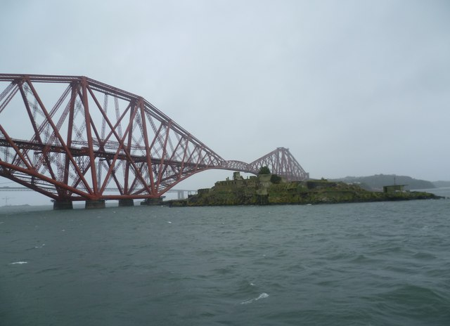 Inchgarvie from the Maid of the Forth