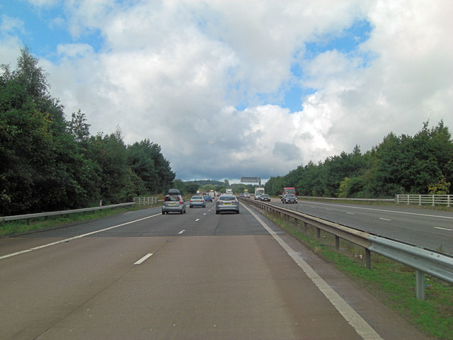 M54 crosses over Stanton Road