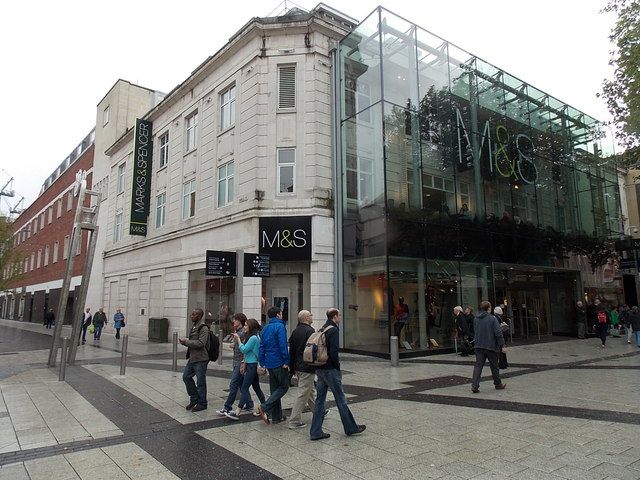 m u0026s queen street cardiff  u00a9 jaggery    geograph britain and ireland