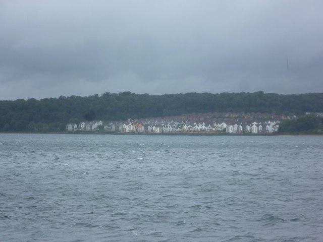 Dalgety Bay on a rainy day