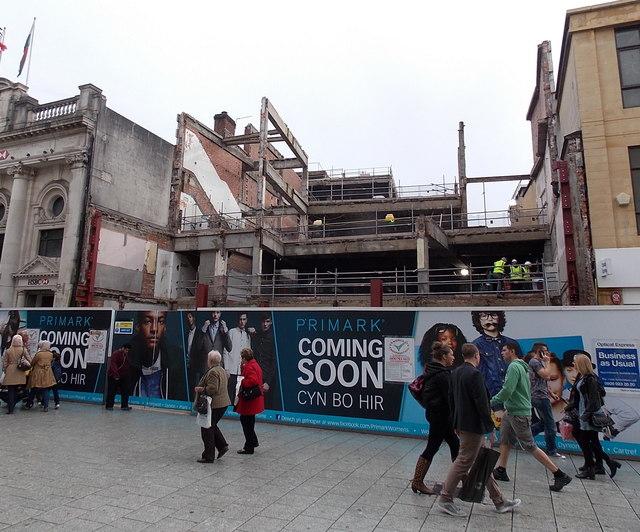Primark coming soon, Queen Street, Cardiff