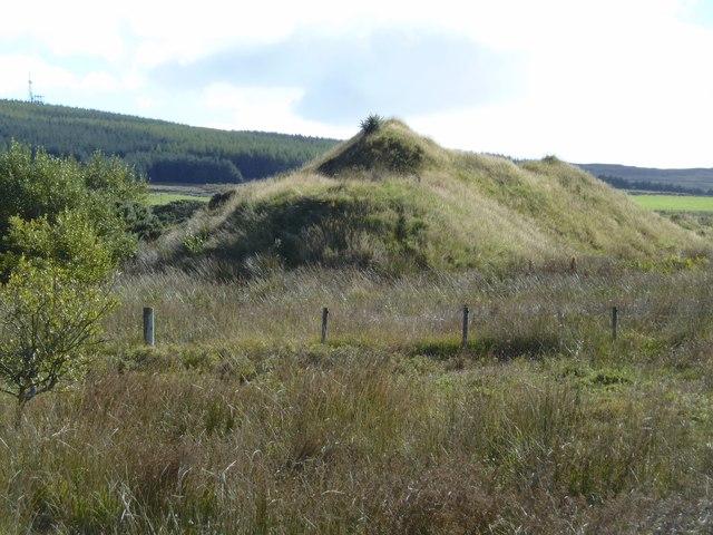 Very lumpy terrain at Glenquicken