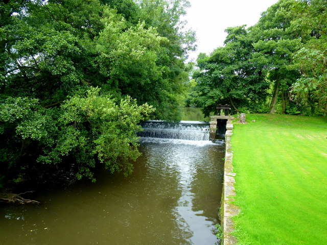 Weir on Longford Brook