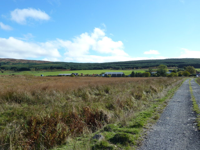 View of farm buildings at Glenquicken