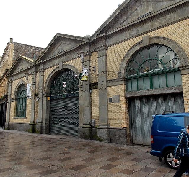 Trinity Street side of Cardiff Indoor Market