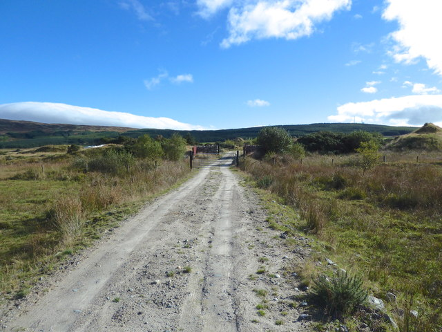 Unmapped track towards Glenquicken Quarry
