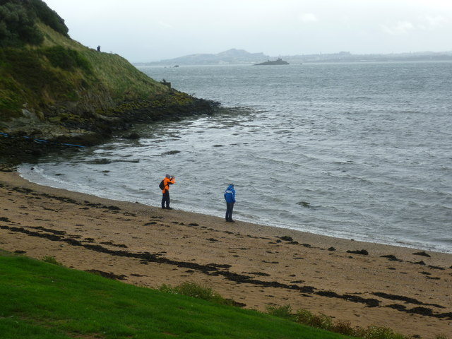 Visitors at Inchcolm