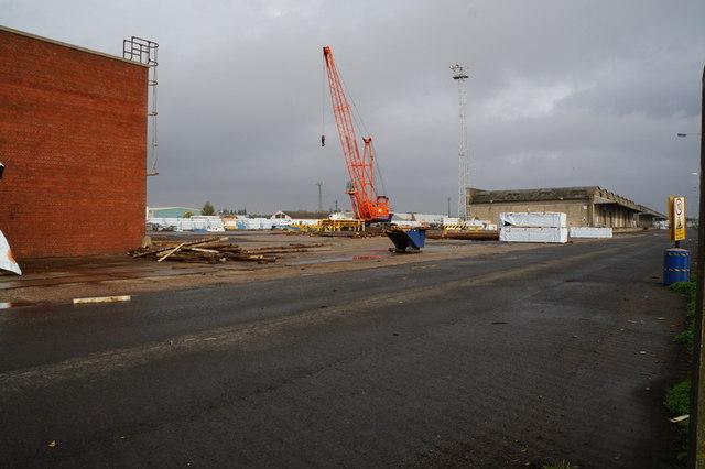 A crane on Albert Dock, Hull