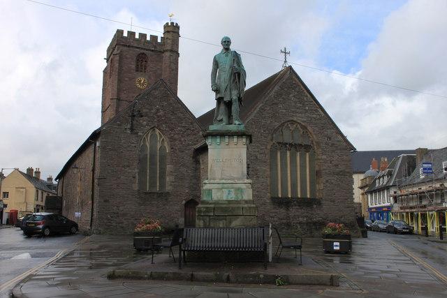 The Wellington statue in Brecon