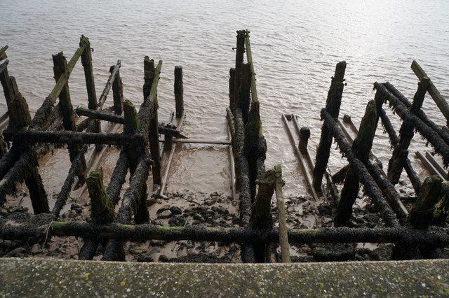 The former jetty along the River Humber