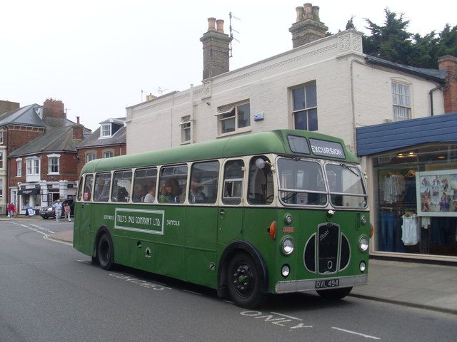 A Green Bus in Southwold