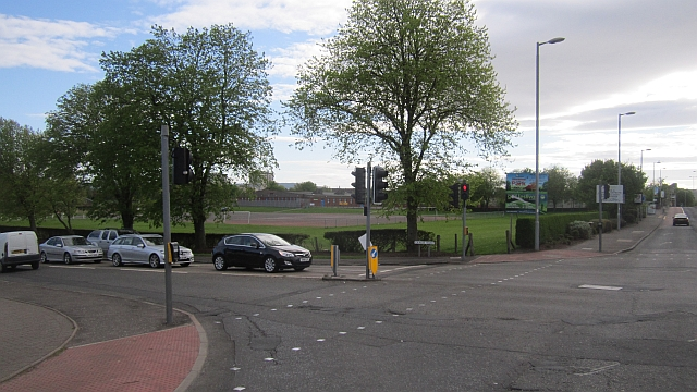 Road junction in Ayr