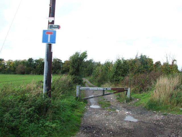 Roadblock near Little Murston