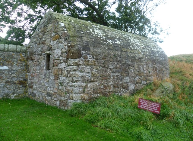 Old building on Inchcolm