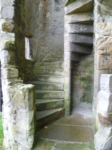 Reconstructed stairway, Inchcolm Abbey